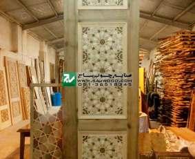 یکی از بلندترین دربهای فاخر ساخته شده جهت اماکن متبرکه در ایران به ارتفاع 3.6 متر با هنر گره چینی طرح کندوتندگیوه،TCG10