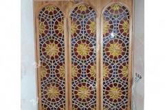 ارسی با ترکیب شیشه های رنگی