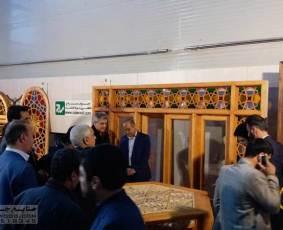 بازدید رئیس،معاونت و هیئت همراه  میراث فرهنگی وگردشگری  خراسان از غرفه صنایع چوب ساج-سال1397
