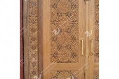درب سنتی چوبی گره چینی طرح تند دوازده مجتمع شهید محراب ثقفی - عراق - نجف اشرف