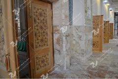 درب سنتی چوبی گره چینی تند ده مجتمع شهید محراب ثقفی- عراق - نجف اشرف