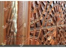 درب چوبی گره چینی تند دوازده مجتمع شهید محراب ثقفی - عراق - نجف اشرف
