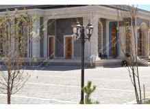 ساخت درب سنتی چوبی گره چینی مسجد حضرت فاطمه(س)- نخجوان - جمهوری آذربایجان