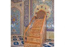 ساخت منبر گره چینی مسجد حضرت فاطمه(س)- نخجوان - جمهوری آذربایجان