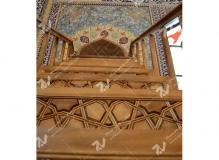 منبر مسجد حضرت فاطمه(س)-گره چینی چوبی با هنر دست- نخجوان - جمهوری آذربایجان