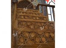 منبر مسجد حضرت فاطمه(س) گره چینی چوب- نخجوان - جمهوری آذربایجان