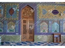 درب سنتی گره چینی چوب باهنر دست مسجد حضرت فاطمه(س)- نخجوان - جمهوری آذربایجان
