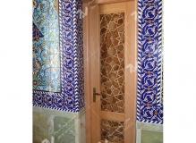 درب سنتی تمام چوب گردو و راش با هنر گره چینی مسجد حضرت فاطمه(س)- نخجوان - جمهوری آذربایجان