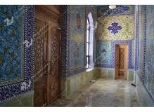 درب چوبی سنتی گره چینی مسجد حضرت فاطمه(س)- نخجوان - جمهوری آذربایجان