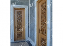 درب سنتی گره چینی چوبی مسجد حضرت فاطمه(س)- نخجوان - جمهوری آذربایجان