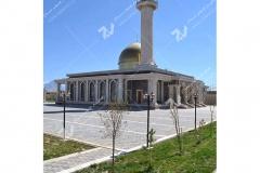 درب سنتی چوبی با هنر گره چینی دست مسجد حضرت فاطمه(س)- نخجوان - جمهوری آذربایجان