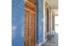درب سنتی گره چینی با چب گردو و راش مسجد حضرت فاطمه(س)- نخجوان - جمهوری آذربایجان