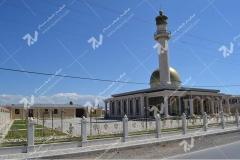 درب چوبی گره چینی مسجد حضرت فاطمه(س)- نخجوان - جمهوری آذربایجان