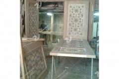 (6) درب سنتی گره چینی چوبی مشبک امامزاده سلطان سلیمان - نیشابور