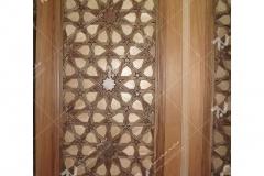(3) درب چوبی سنتی گره چینی امامزاده سلطان سلیمان - نیشابور