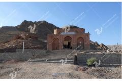 (4) درب چوبی سنتی گره چینی امامزاده سلطان سلیمان - نیشابور