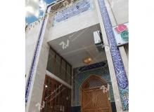 (1) درب چوبی گره چینی ورودی مسجد وحسینیه حضرت موسی بن جعفر(ع) (منتظریه) هاشمیه - مشهد مقدس