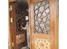 (3) درب چوبی مسجد نیروگاه سیکل ترکیبی فردوسی ( طوس ) - مشهد مقدس