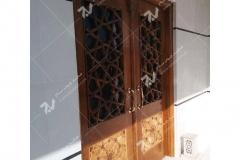 (8) درب گره چینی مشبک مسجد نیروگاه سیکل ترکیبی فردوسی ( طوس ) - مشهد مقدس