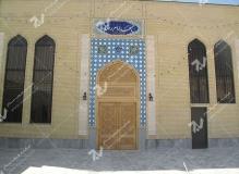 (1)درب گره چینی چوبی مسجد امام رضا (ع) شهرک صنعتی - مشهد مقدس