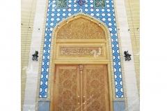 (2)درب چوبی سنتی گره چینی تند دوازده مسجد امام رضا (ع) شهرک صنعتی - مشهد مقدس