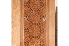 (3)درب چوبی گره چینی تند دوازده مسجد امام رضا (ع) شهرک صنعتی - مشهد مقدس