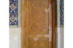 (2) درب چوبی گره چینی سنتی مسجد بیت الرضا (ع) مقابل باب الجواد - مشهد مقدس