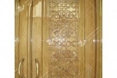(3) درب گره چینی چوبی سنتی مسجد بیت الرضا (ع) مقابل باب الجواد - مشهد مقدس