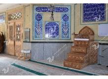 (5)منبر چهار پله مسجد ابا عبدالله حسین - خیابان خرمشهر- مشهد مقدس