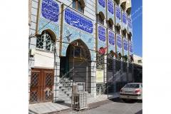(1)درب چوبی مشبک گره چینی مسجد ابا عبدالله حسین - خیابان خرمشهر-مشهد مقدس