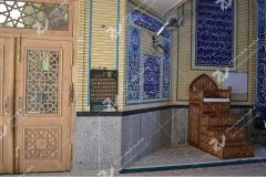 (6)درب چوبی گره چینی و منبرمسجد ابا عبدالله حسین - خیابان خرمشهر- مشهد مقدس