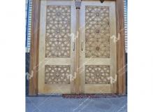 (2) درب چوبی گره چینی تند ده مسجد حضرت زینب (س)-خیابان چمن -مشهد مقدس