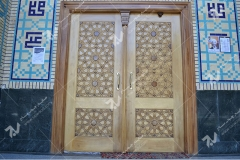 (3) درب سنتی گره چینی چوبی شمسه تند ده مسجد حضرت زینب (س)-خیابان چمن -مشهد مقدس