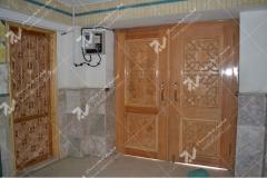 (10) درب چوبی گره چینی ورودی مسجد وحسینیه امام علی(ع) مطهری - مشهد مقدس