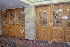 (11) درب چوبی مشبک مسجد وحسینیه امام علی(ع) مطهری - مشهد مقدس