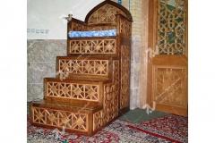(14) گره چینی چوبی منبرمسجد وحسینیه امام علی(ع) مطهری - مشهد مقدس