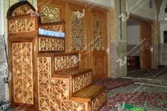 (15) منبر گره چینی چوب مسجد وحسینیه امام علی(ع) مطهری - مشهد مقدس