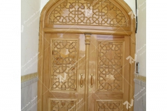 (16)درب سنتی و چوبی گره چینی مسجد وحسینیه امام علی(ع) مطهری - مشهد مقدس