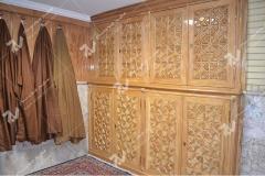 (9) کمد و جالباسی چوبی گره چینی مسجد وحسینیه امام علی(ع) مطهری - مشهد مقدس