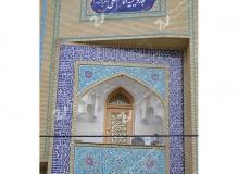 (12) درب چوبی گره چینی توپر و مشبک مسجد وحسینیه امام علی(ع) مطهری - مشهد مقدس