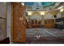 (6) درب چوبی منبر و پنجره سنتی گره چینی مسجد وحسینیه امام علی(ع) مطهری - مشهد مقدس