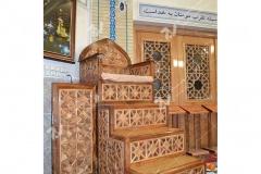 (2) منبر مسجد وحسینیه امام علی(ع) با هنر گره چینی چوبی مطهری - مشهد مقدس