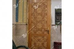 (4) درب چوبی گره چینی مربع مسجد وحسینیه امام علی(ع) مطهری - مشهد مقدس