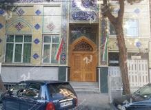 (2) درب چوبی سنتی گره چینی مسجد وحسینیه امام رضا (ع) عنصری - مشهد مقدس