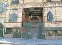 درب چوبی گره چینی طرح تند ده ورودی مسجد وحسینیه امام سجاد(ع) - قاسم آباد - مشهد مقدس