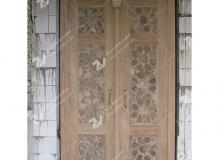 (1) درب سنتی گره چینی چهار لنگه مسجد امام سجاد(ع) - طبرسی شمالی - مشهد مقدس