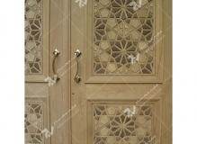 (5) درب چوبی گره چینی توپر مسجد امام سجاد(ع) - طبرسی شمالی - مشهد مقدس