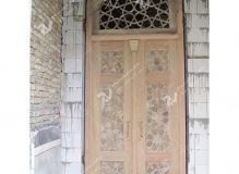 (7) درب چوبی گره چینی و مشبک مسجد امام سجاد(ع) - طبرسی شمالی - مشهد مقدس