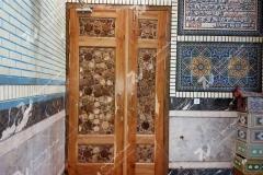درب چوبی سنتی مسجد کند دو پنج مسجد امام سجاد خیابان طبرسی مشهد