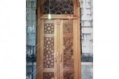 درب چوبی هشت چهار لنگه مسجد امام سجاد